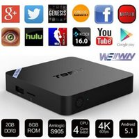 Wholesale Mini M8Spro TV Box Set top Box Amlogic S905 Android Quad Core WiFi Bluetooth GB RAM GB Smart Media Player
