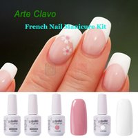 arte colors - Nails Tools Nail Gel Hot Sale Arte Clavo Colors Colors Base Top Coat Tip Guides French Nail Art Set