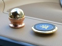 Wholesale New Magnetic Degree Rotation Mini Car Holder Phone Magnet Dashboard Car Styling Holder K Gold Plated For GPS