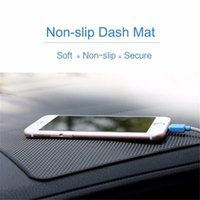 Wholesale ROCK Car Non slip Dash Mat Leather and Plaid Texture non slip car pad Anti slip Mat Car Holder