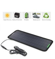 solar car battery charger - 18V W Portable Solar Car Battery Charger Bundle with Cigarette Lighter Plug Battery Charging Clip Line Suction Cups Manual