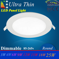 Wholesale Led Round Ceiling Light 18w - Ultra Bright 3W 6W 9W 12W 15W 18W 24W Dimmable Led Ceiling light Recessed Downlight Round Panel light 2500Lm Led Bulb Lamp