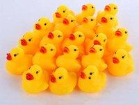 bathing baby video - 3000X New Baby Bath Water Toy toys Sounds Yellow Rubber Ducks Kids Bathe Children Swiming Beach Duck Ducks Gifts