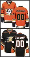 achat en gros de coutume canard-Custom Anaheim Ducks Jerseys Noir Orange 2016 Stadium Series Jerseys Stitched Mighty Ducks De Anaheim Hockey Jerseys taille S-3XL
