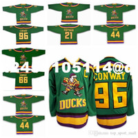 Wholesale Anaheim Ducks Throwback Jerseys Sports Ice Hockey Retro Charlie Conway Gordon Bombay dean portman Fulton Reed Vintage Green