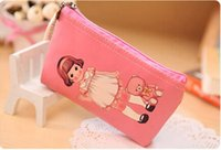 Wholesale Women Children Little Doll Case Bag Wallet Stationery Cosmetic PU Cute Coin Bag Holder Case Purse