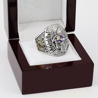american football band - WITH WOOD BOX National Football League SUPER BOWL XLVII BALTIMORE RAVEN D Design High Quality Replica CHAMPIONSHIP RING STR0