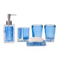bathroom tumbler sets - New Bath Set Resin Bathroom Accessories Set Soap Dish Toothbrush Holder Lotion Dispenser Tumbler