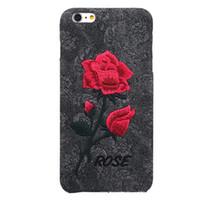 art phone cases - Chic Rose Embroidery Retro Case Hard Art Handmade Flower Cover Elegant Phone Cover Case for Iphone s plus plus Samsung S6 edge plus