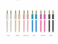 audio head phones - Nylon braided audio cable metal head mm phone Universal AUX audio cable male to male connection cable