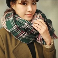 air spells - Plaid spell color double sided houndstooth cape super warm air conditioned rooms shawl scarf J105 England College