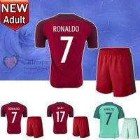 Cheap 2016 European Cup Portugal National Team 7 RONALDO Home Soccer Jersey Sets,discount Cheap 7 FIGO uniforms,22 CARVALHO Football Jerseys KITs