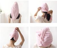 bamboo towel holder - DHLMagic Quick Dry Microfiber Hair Towel Hair drying Ponytail Holder Cap Towel Lady Microfiber Hair Towel hat cap High quality