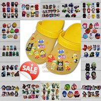 Wholesale Hot Mix Models High Quality CooL lovely Cartoon PVC shoe charms shoe accessories for Wristbands Fit cor croc jibz Party Gift