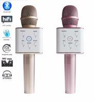 best condenser microphone - Best Christmas Gift High Quality Q7 Wireless Microphone With Amplifier Bluetooth Speaker Condenser Mini Karaoke KTV