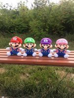 better quality video - 7 inch Super Mario Brothers plush toys anime cm super soft animal dolls better quality EMS shipping