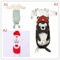 Cheap Newborn Infant Sleeping Bags Kids Baby Boys Grils Infant Long Sleeve Romper Pajamas Mermaid Tail Sleepwear Sleeping Bags