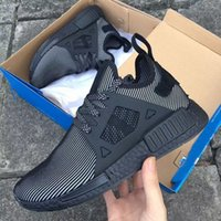 Wholesale High Quality Adult And Children NMD XR1 Glitch Black White Blue Camo Runing Shoes