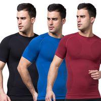 Wholesale Mens Slimming Body Shaper Tummy Belly Waist Girdle CincherTee Shirt Underwear Shapewear Bodysuit New L4 KR2
