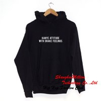 animal feelings - Unisex Kanye Attitude Drake Feelings Fleece Hoodie Hip Hop tumblr hipster Sweatshirt S XL KA0314TT