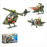 Wholesale In year new product s little fox selling educational building blocks assembled toy helicopter