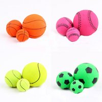 basketball dog toy - New Practical Solid Dog Toys Training Playing Chewing Bouncy Ball Pet Toy Football Basketball WA1279