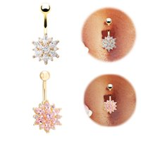 Wholesale High quality Medical Steel Crystal Rhinestone Belly Button Ring Dangle Navel Body Jewelry Piercings Tassel