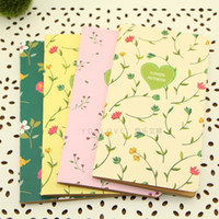 Wholesale 24pcs Fresh garden K kraft paper notepads notebook stationery floral art fan retro flower series