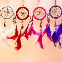Wholesale Shell Dream Catcher Circular Net With feathers Wall Hanging Decoration Decor Ornament