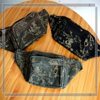 Wholesale Men Camouflage Outdoor Fanny Pack Waist Bag Military Camo Travel Sports Bag