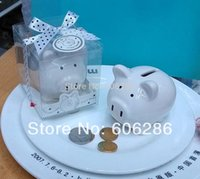 bank money supply - 50pcs Li l Saver Favor Ceramic Mini Piggy Wedding Favor Baby gift Money Bank Festive gifts for baby shower