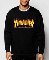 fashion magazine - autumn winter trasher sweatshirt Magazine Flame fashion men hoodies hip hop style streetwear sport gym brand clothing