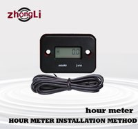 Wholesale New waterproof Inductive Waterproof Hour Meter for Marine ATV Motorcycle Dirt Ski Gas Engine Hour Meter waterproof