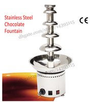 Wholesale Chocolate fountain machine Five levels stainless steel chocolate fountain dispenser levels with thermostat