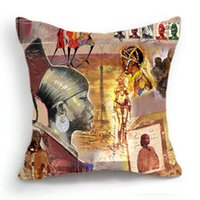african tribe - 45CM Cushion Cover Pillow Case Throw Home Sofa Decorative African Tribe