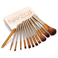 Cheap N3 Professional Makeup Brushes12 PCS Cosmetic Facial Make up Brush Tools Makeup Brushes Set Kit With Retail Box DHL Free Shipping