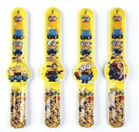 auto plastic toy - 300pcs Despicable Me slap watch slap watch silicone digital Watch Rubber film movie cartoon quartz kid Jelly gifts toys