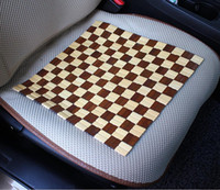 Brown automotive upholstery - Summer essential automotive Liangdian upholstery spell color square bamboo car upholstery Cool cushion a bag