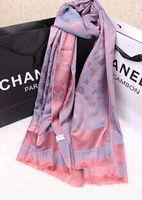 Wholesale Drop shipping Scarves Women New Arrival Fashion Brand Designer Silk Scarf Women Double Light Style Fringe Scarf Long Shawl Stars Pashmina