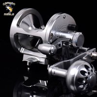 Wholesale Full Metal Boat Reels HS W offshore boat fishing drum jig trolling fishing iron wheel right hand silver