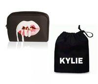 bag dust collection - 50sets Kylie Jenner Make Up Bag Birthday Collection Kylie Lip Kit Makeup Bag Drawstring Dust Bag