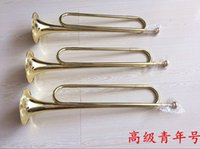 Wholesale 2015 Direct Selling New Bb Yellow Brass Gold Lacquer Flugelhorn Tuba Trompeta Bach Advanced Small Youth Number Tube Paint Gold