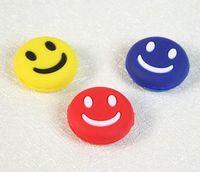 Wholesale 500 Lovely Cute Mini Smile Face Shock Vibration Dampener Absorber for Tennis Racquet Racket