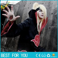 akatsuki robe - New Fashion Unisex Cosplay Costumes Japan Anime Naruto Itachi Akatsuki Cosplay Robes Cloak Party Costumes