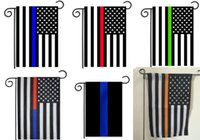 Wholesale 30 CM Blue Line Red Line USA Police Flags inch Thin Blue red Line USA Flag Black White And Blue American Flag