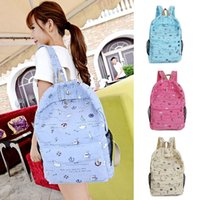 Wholesale Student Schoolbag Durable Canvas Backpack Leisure Travel Knapsack Girls Printing Rucksack for Teenagers Schoolbags ZF0335 kevinstyle
