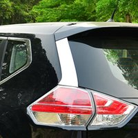 accessories spoilers - 2pcs set Accessories fit for Nissan X Trail T32 Rogue X Trail Stainless Steel Rear Window Spoiler Side Cover Trim