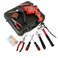 Wholesale 82pcs Manual Household Electric Tool Kit Set Combined Home Electric Tool Set Portable Repairing Power Domestic Upholstery Decoration Device