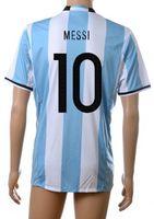Wholesale 16 New Argentina Messi Soccer Jersey Thai Quality Soccer Jerseys AGuero Soccer Jerseys Shirts DI MARIA Football Jerseys