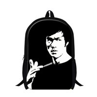 best cheap backpack - Cheap Sale Classic Bruce Lee Printing Backpack Fashion Boys Girls Best Shoulder School Bags